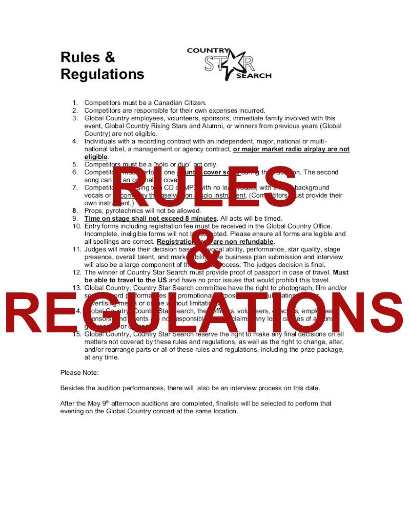 2020 Rules & Regulations